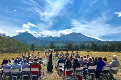 Mountain View Weddings, Historic Pines Ranch, Valley View Field Ceremony Site!
