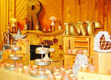 Rustic Reception/Dessert Table at the Historic Pines Ranch