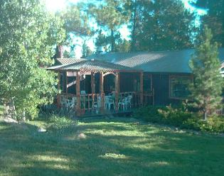 The Historic Pines Ranch ~ Knotty Pine Dining Porch