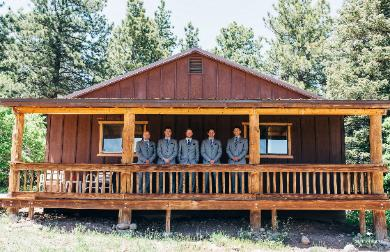 The Rustic Foxtail Cabin ~ the Historic Pines Ranch Wedding Venue Photo ~ Santurbane Photography!