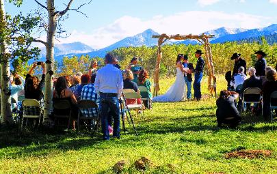 Say You Will with Us! Rent our ranch for Your Rustic Mountain Wedding!