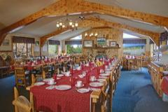 Our Fun Western Themed Dining Hall is Perfect for Family Reunions!