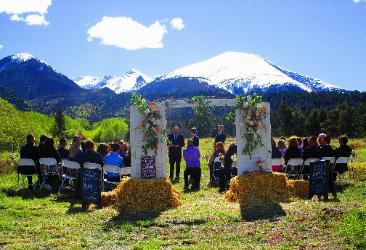 Mountain View Wedding Ceremony! The Historic Pines Ranch, Westcliffe Colorado