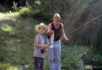 Fishing with the family ~ the Historic Pines Ranch